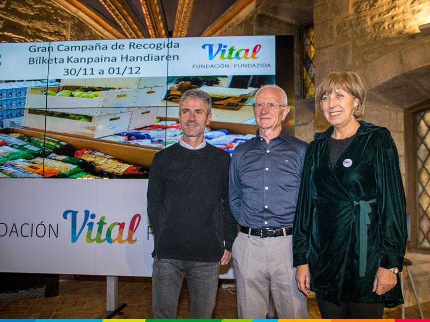 Rueda de prensa del Banco de Alimentos de Araba en la Fundación Vital