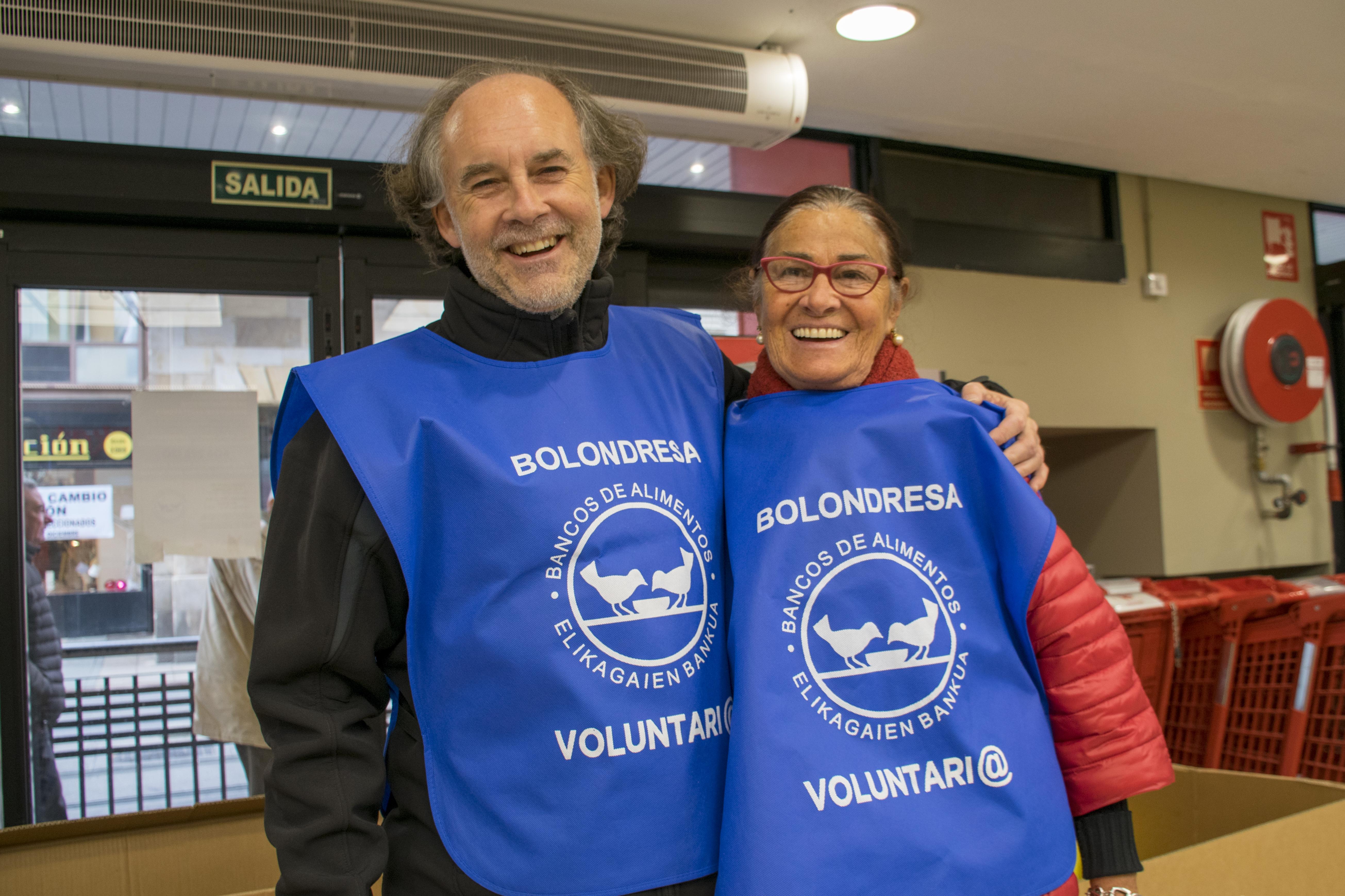 Voluntarios recogida de alimentos en Vitoria 2018